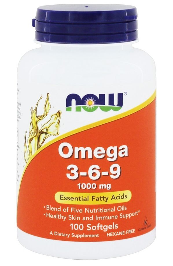 Now Foods, Omega 3-6-9, 1000 mg